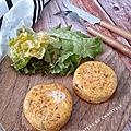 Palet à la carotte et fromage basque