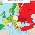 Rainbow map 2011 – la carte arc-en-ciel d'ilga-europe