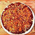 Croustillant poire - chocolat