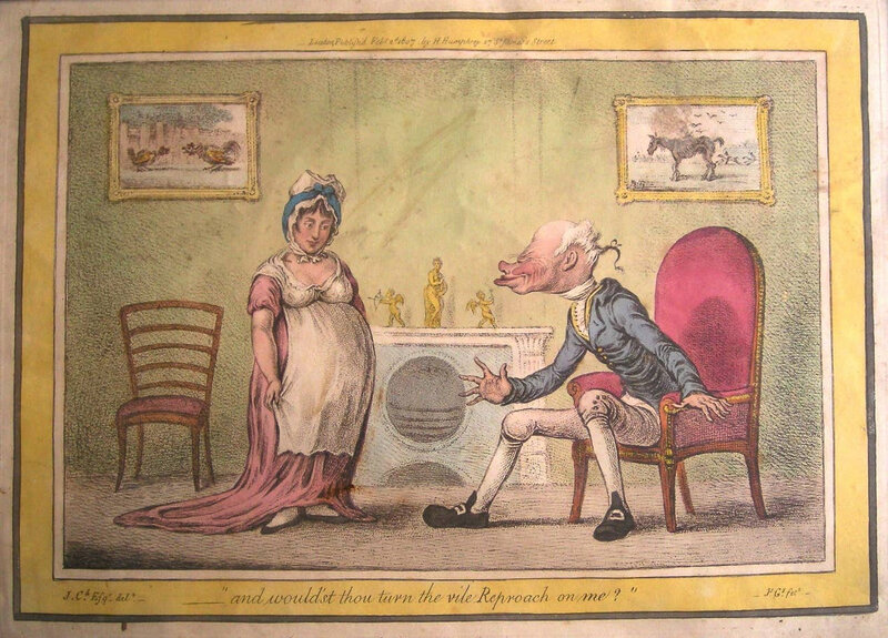 James-Gillray-and-wouldst-thou-turn-the-vile-reproach-on-me-1807-private-collection