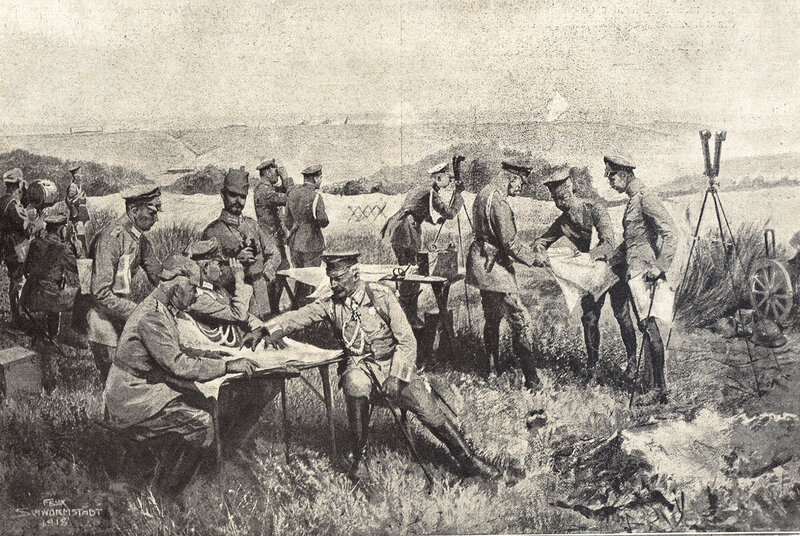 1918 08 03 Les Boches devant Soissons