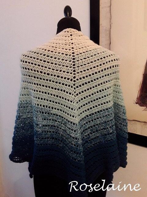 Roselaine tricot écharpe scarf 2