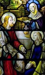 Marthe et Marie avec Jésus