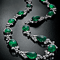 An art deco emerald and diamond sautoir, by bulgari