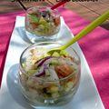 Tartare saumon - cabillaud