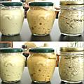 Lait fermenté au houmous fermenté en coupe & cigarettes libanaises