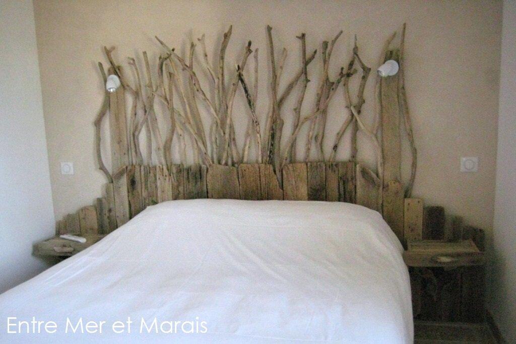 têtes de lit en bois flotté - entre mer et marais ~ créations en