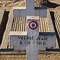 Valade jean (argenton sur creuse) + 08/10/1918 montferrand (63)