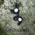 Collier Elfes des glaces noir et blanc (7)