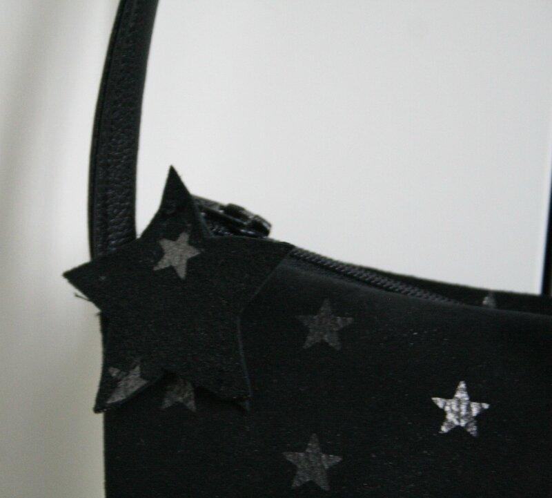 sac pochette étoiles détail fermeture