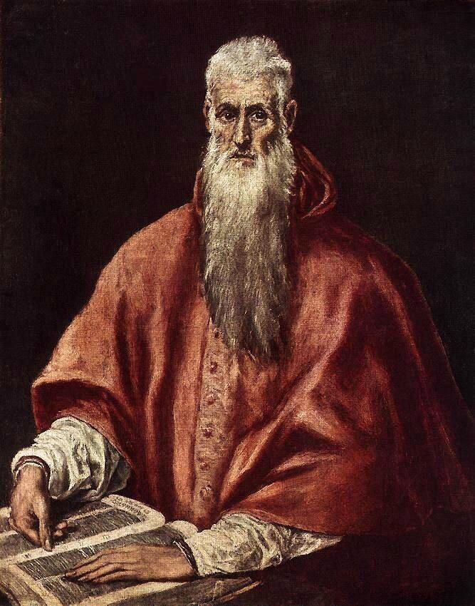 1590-1600 EL GRECO : St Jerôme en cardinal