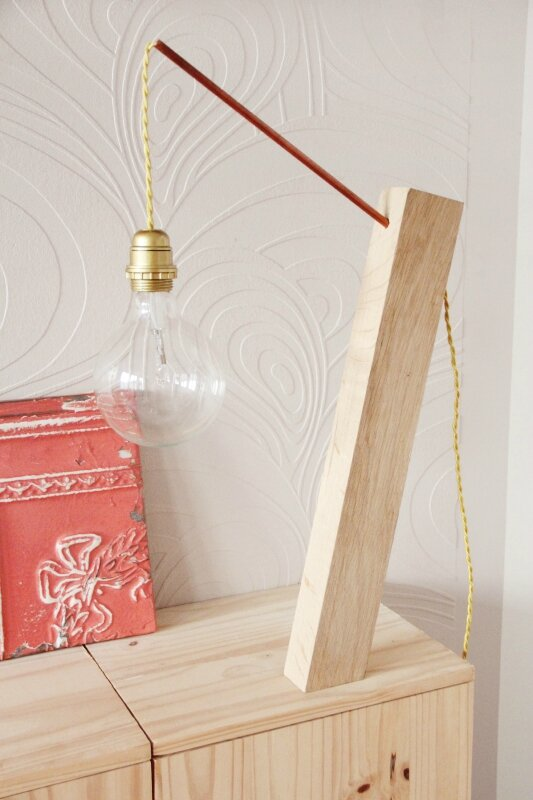 • Cuivre À Tête D'ange Et Une Poser Lampe Bois Diy vNnw0Om8