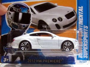 Bentley continental supersports (Hotwheels)