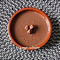 Yaourts flan chocolat et nutella