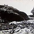 Entre Croix de vie et Sion sur l'Océan - rocher de la grenouille datée 1963