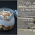 Trifle à la pèche chantilly et meringue