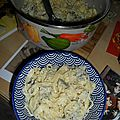 Tagliatelles et tofu pesto basilic!