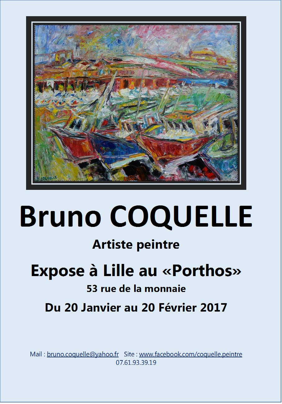 affiche exposition au Porthos