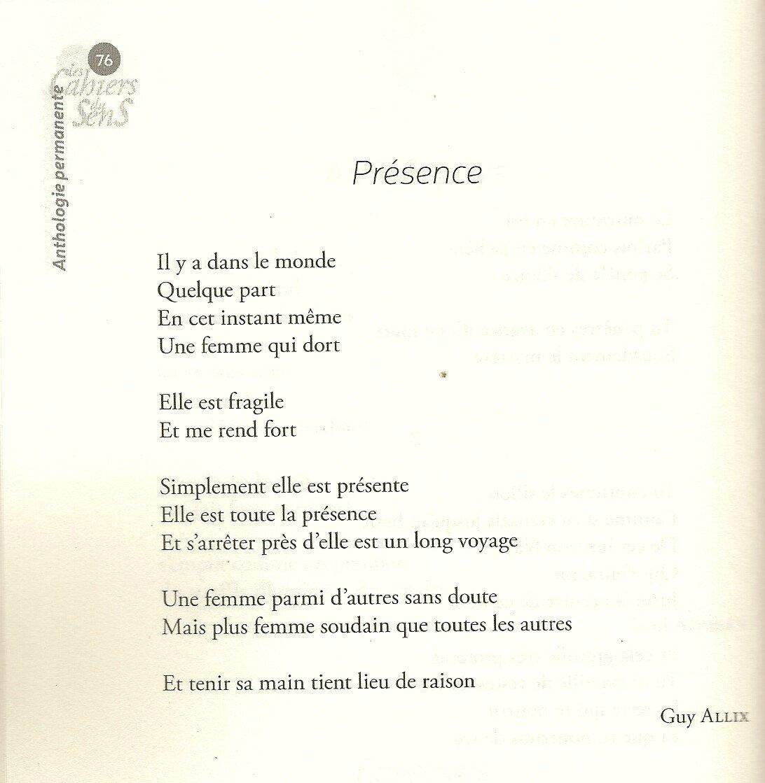 Poème Damour Guy Allix Poète