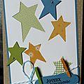 69. beige à dots, blanc, bleu, jaune et vert - étoiles