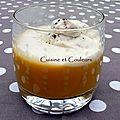Velouté de butternut, crème fouettée au café sur une idée de anne-sophie pic