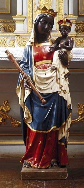 Bécherel, église ND, statue de ND de Bonne Délivrance