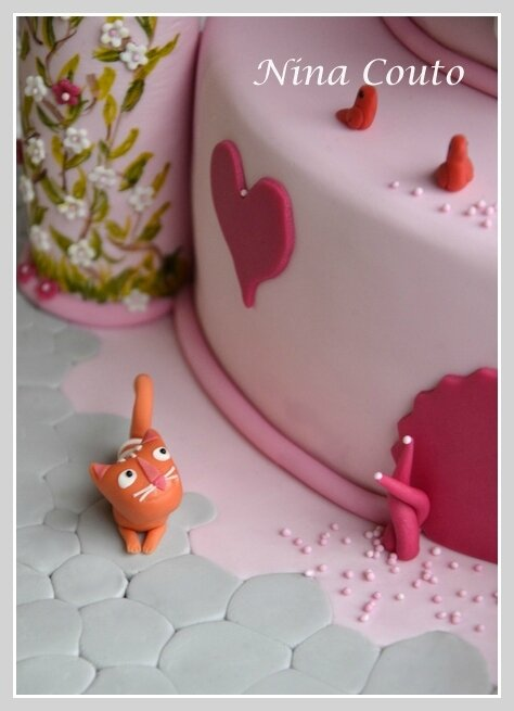 Gâteau anniversaire enfant Nîmes gateau chateau princesse detail Nina Couto