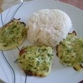 Galettes de courgettes au curry