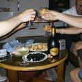 Nous fêtons notre reussite avec le champagne d'Albert