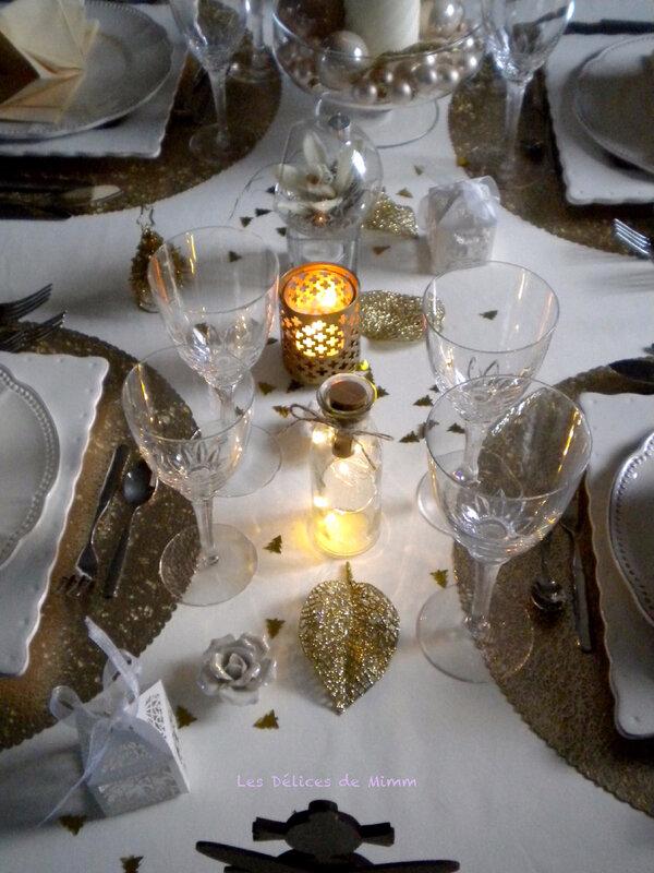 Ma table de réveillon ivoire et or 6