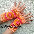 Mitaines gants femme crochet fée faite-main en boutique etsy coraliezabo