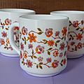 Vaisselle vintage ... mugs arcopal modèle scania