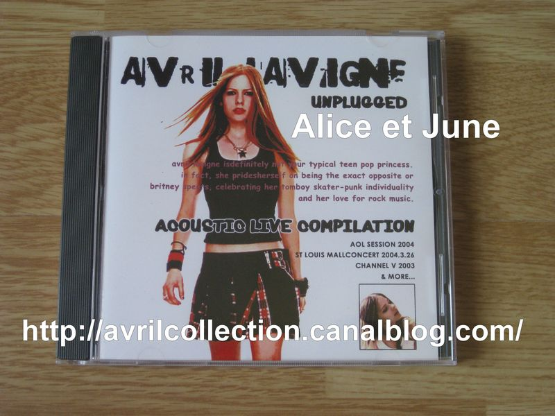 CD Avril Lavigne Unplugged-Japon (2004)