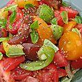La salade de tomates, dans toute sa splendeur