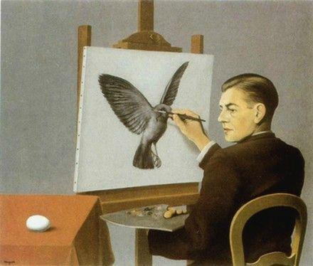 Autoportrait dénommé La clairvoyance René Magritte