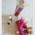 Une verrine au myrtilles..............