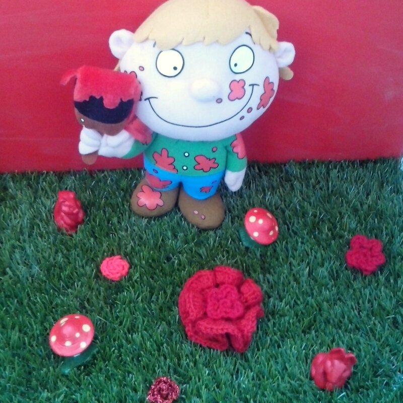 rose rouge crochet