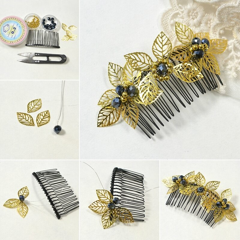 1080-How-to-Make-a-Gold-Leaf-Decorated-Hair-Comb-for-Autumn-Days