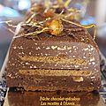 Bûche croustillante aux 3 chocolats et spéculoos