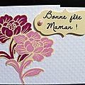 05. blanc, rose et jaune - mini-carte fleurie