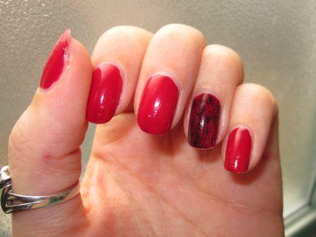 nail art dentelle noël 2012