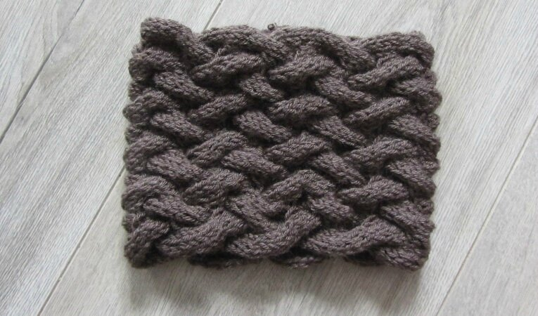 snood marron 1