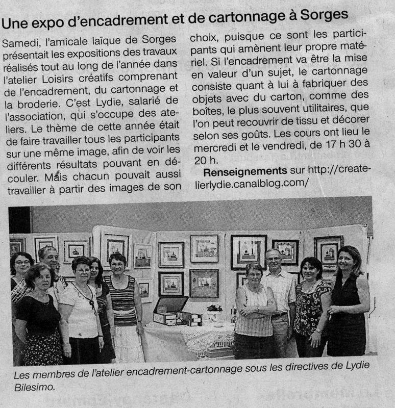Amicale de Sorges Ouest France juin 2010