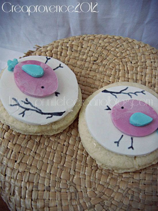 Decor Pate A Sucre Sables Oiseaux Bird Biscuits Prunille Fait
