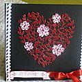 Bonjour à toutes une jolie carte de st valentin