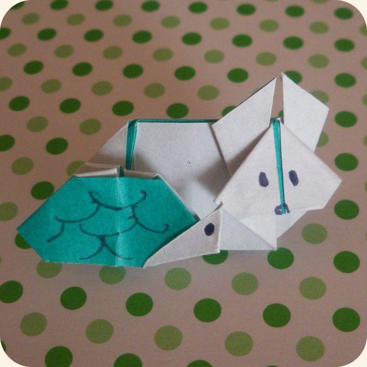 Le Lièvre et la Tortue (Origami Club)