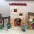 Décors de Noël maisons en polystyrène