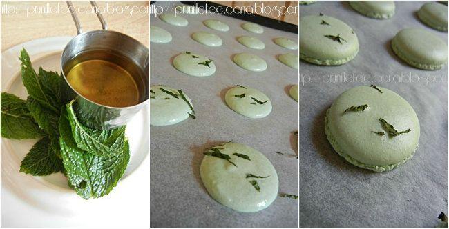 collage macaron mojito