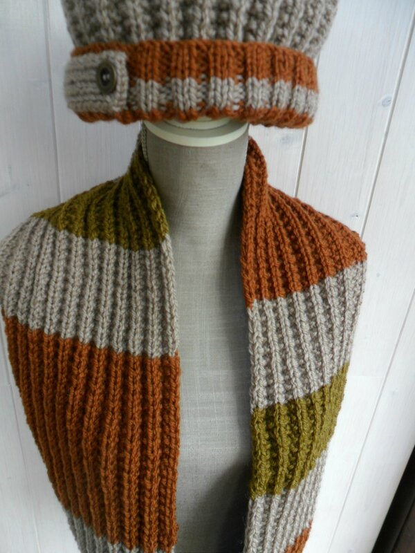 ensemble snood & bonnet homme