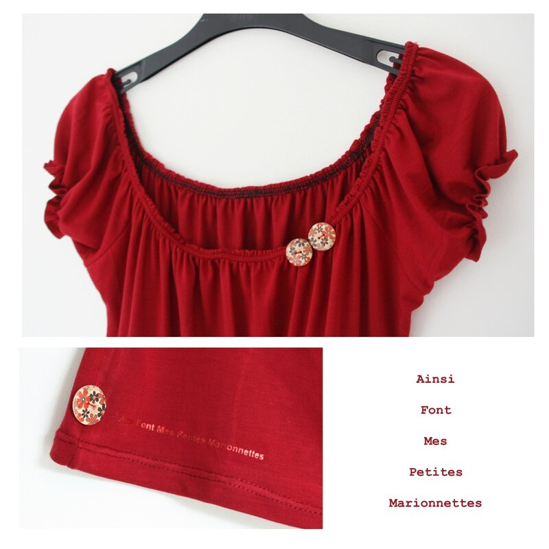 top froncee rouge 2